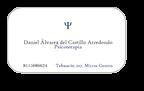 Psicólogo Daniel Alvarez del Castillo