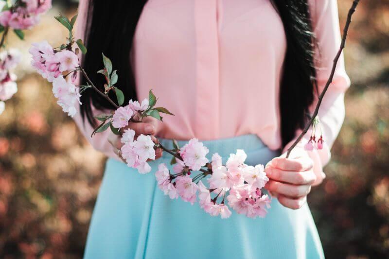 rozkvetlé kvítí první máj