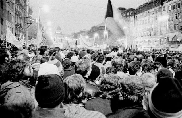 stara fotografie na den demokracie a svobody