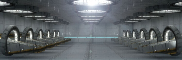 záběr do vesmírné virtuální reality