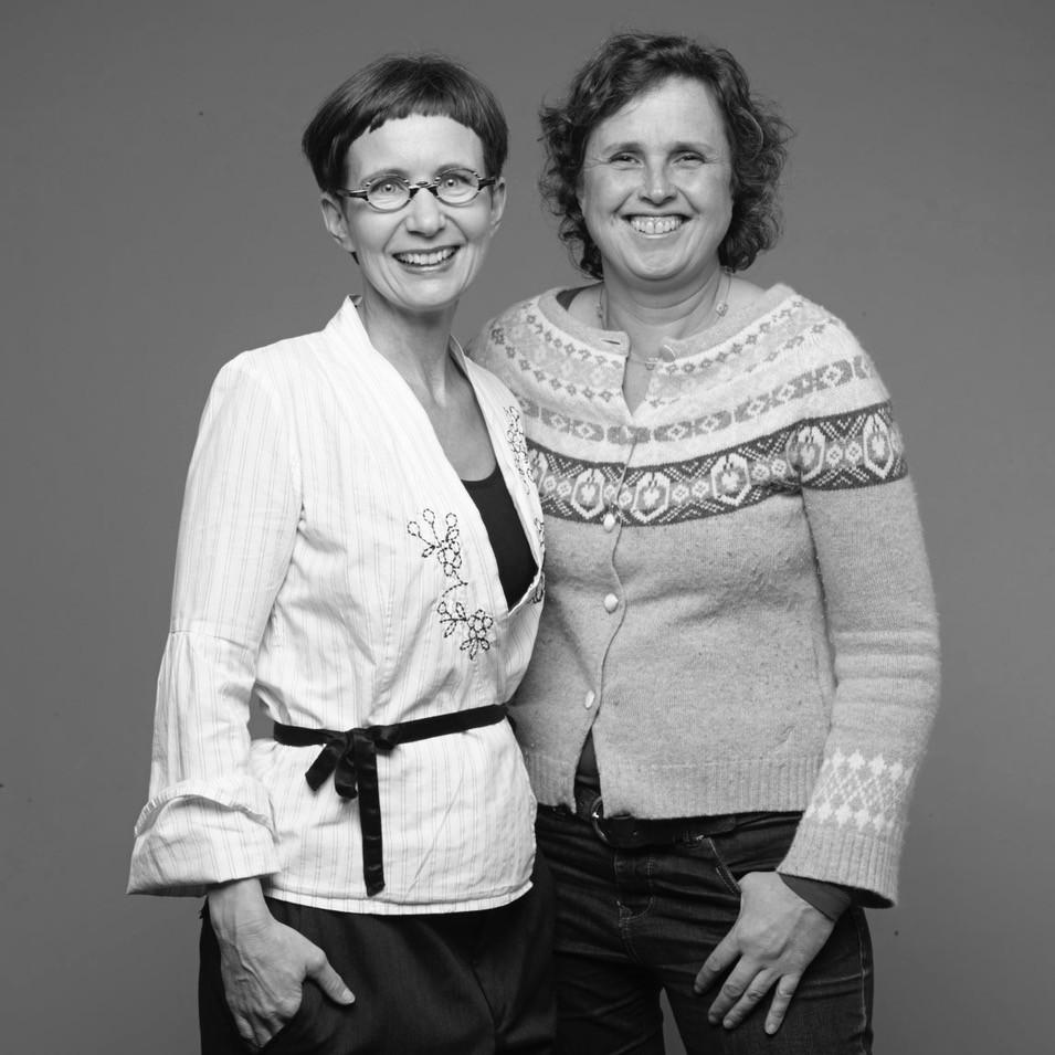 Maria Zeilon och Lill O. Sjöberg som är formgivare för My Maker Box.