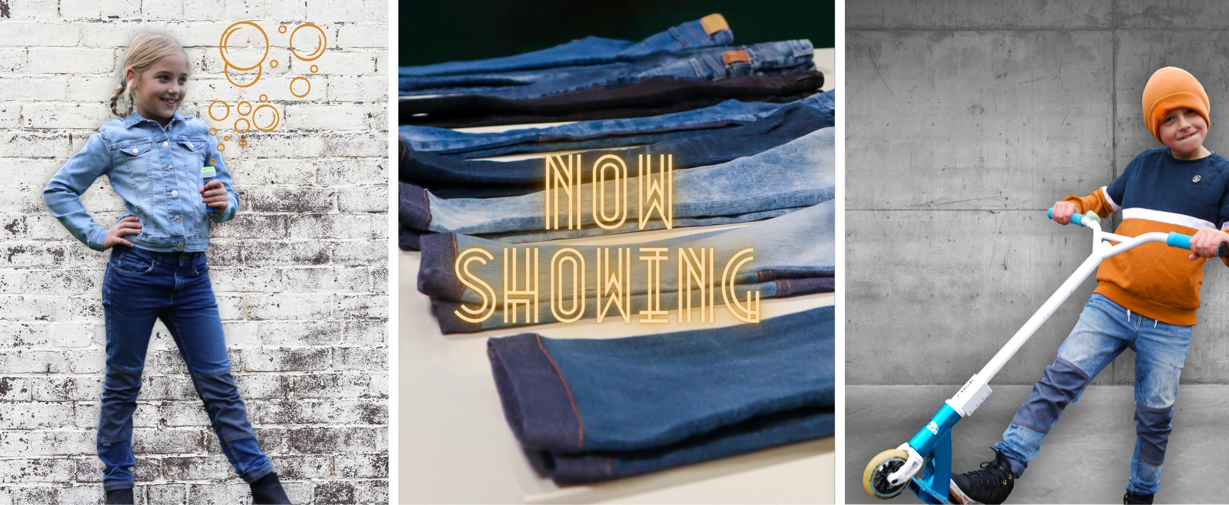 Hållbara och slitstarka jeans för barn