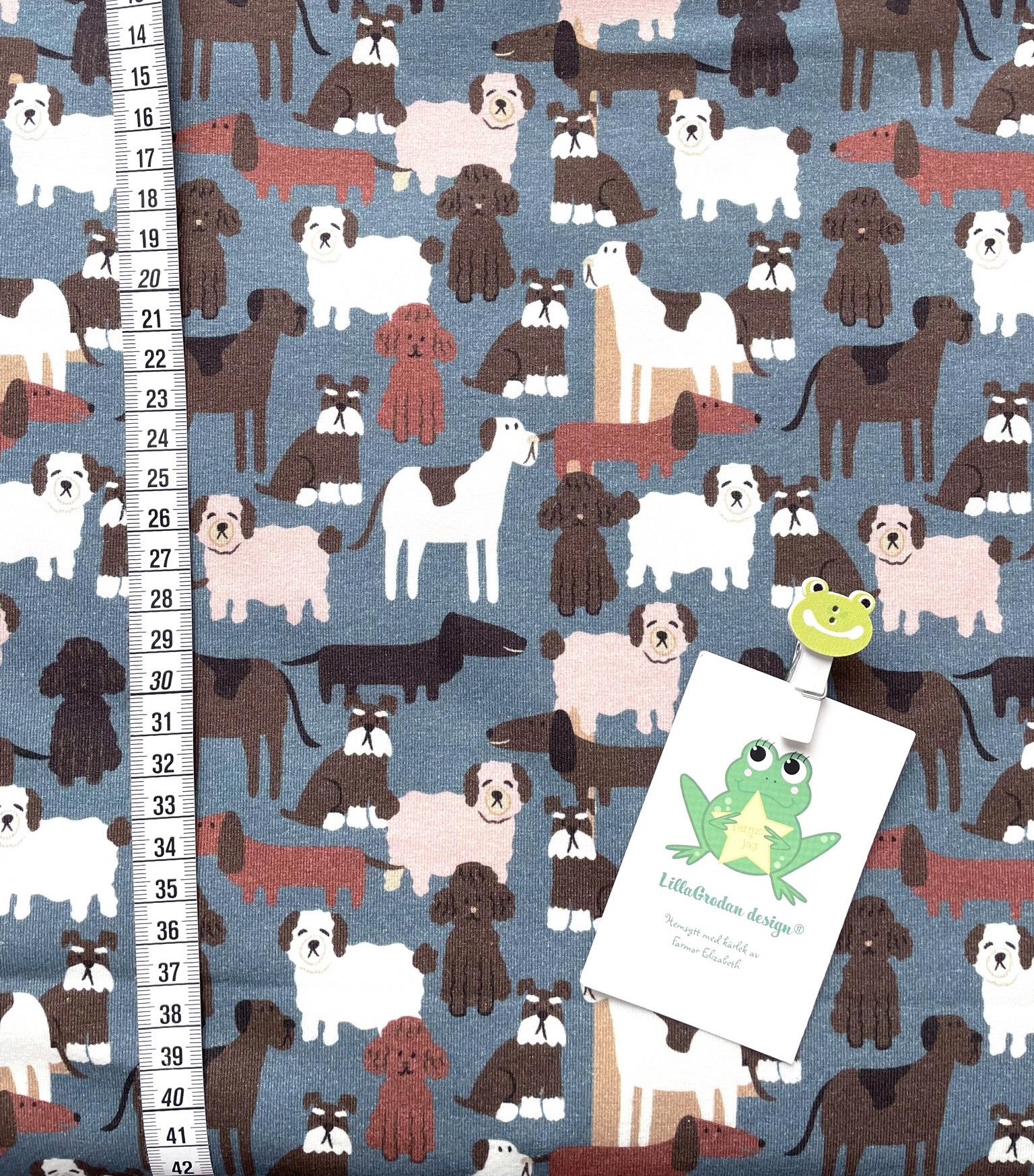 Hundkompisar, Gråblå #636, ökotex