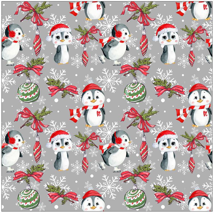 JUL20-Julpingviner, grå #615, öko