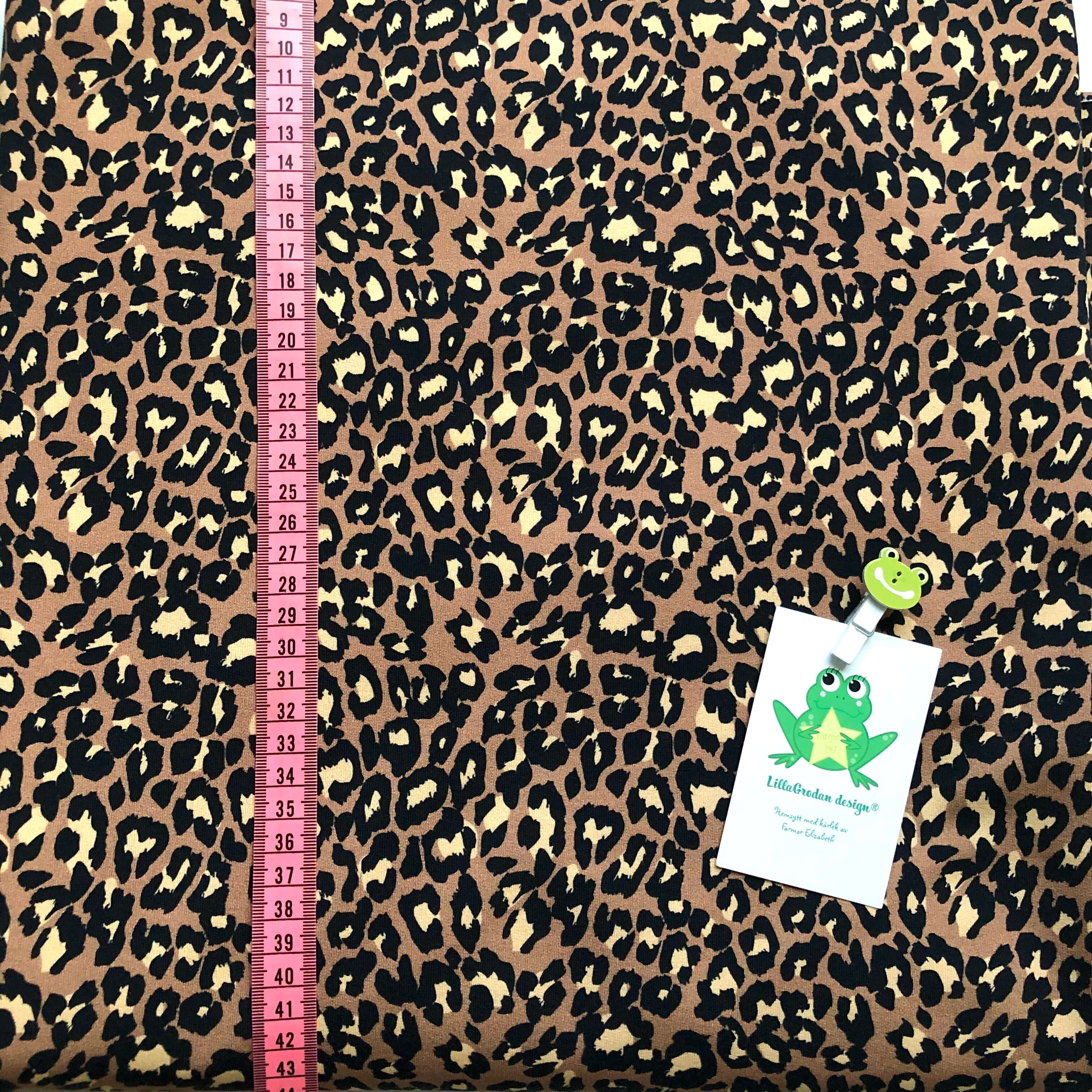 Leopard Nougat #627, collegetrikå (öglad baksida) eko,gots