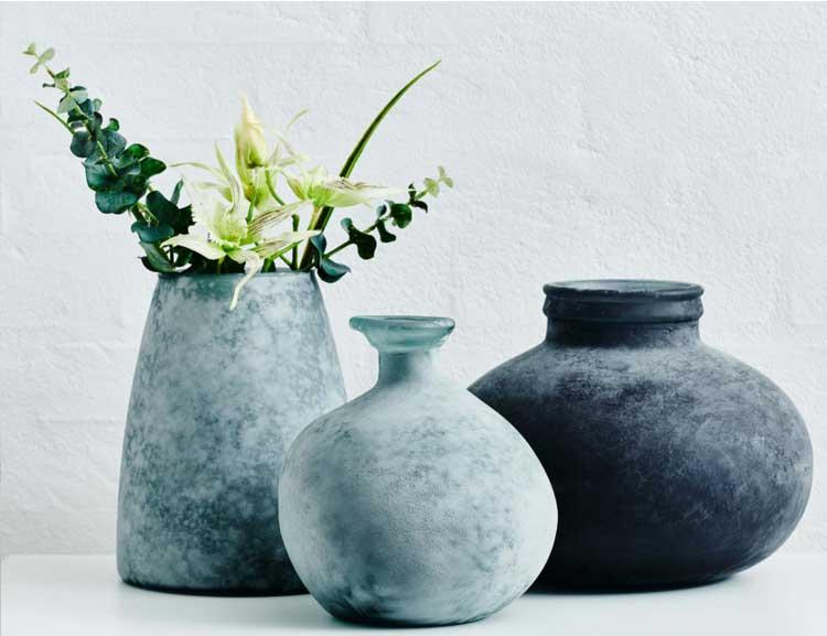 Vaser från Oohhx i återvunnet glas
