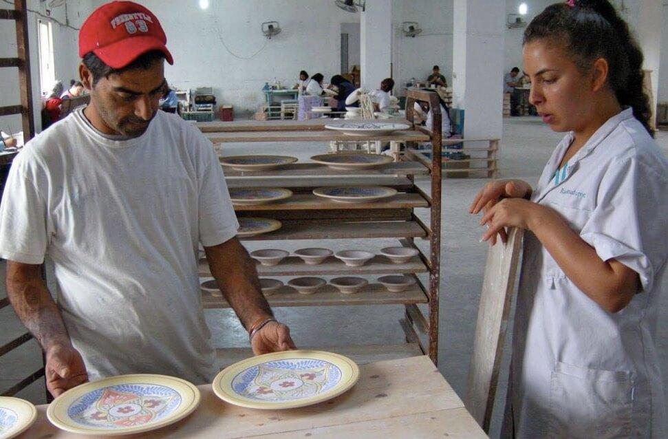 Keramiktillvdrekning Nabeul, Tunisien, Fot: Le Souk, EZA Österrike