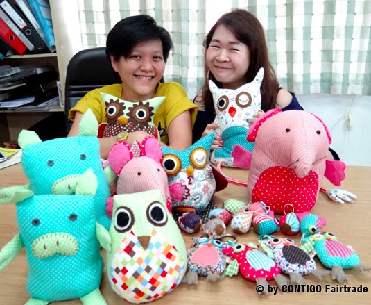 Nook-Nook i Thailand tillverkar roliga FUNimal för Fair Trade.
