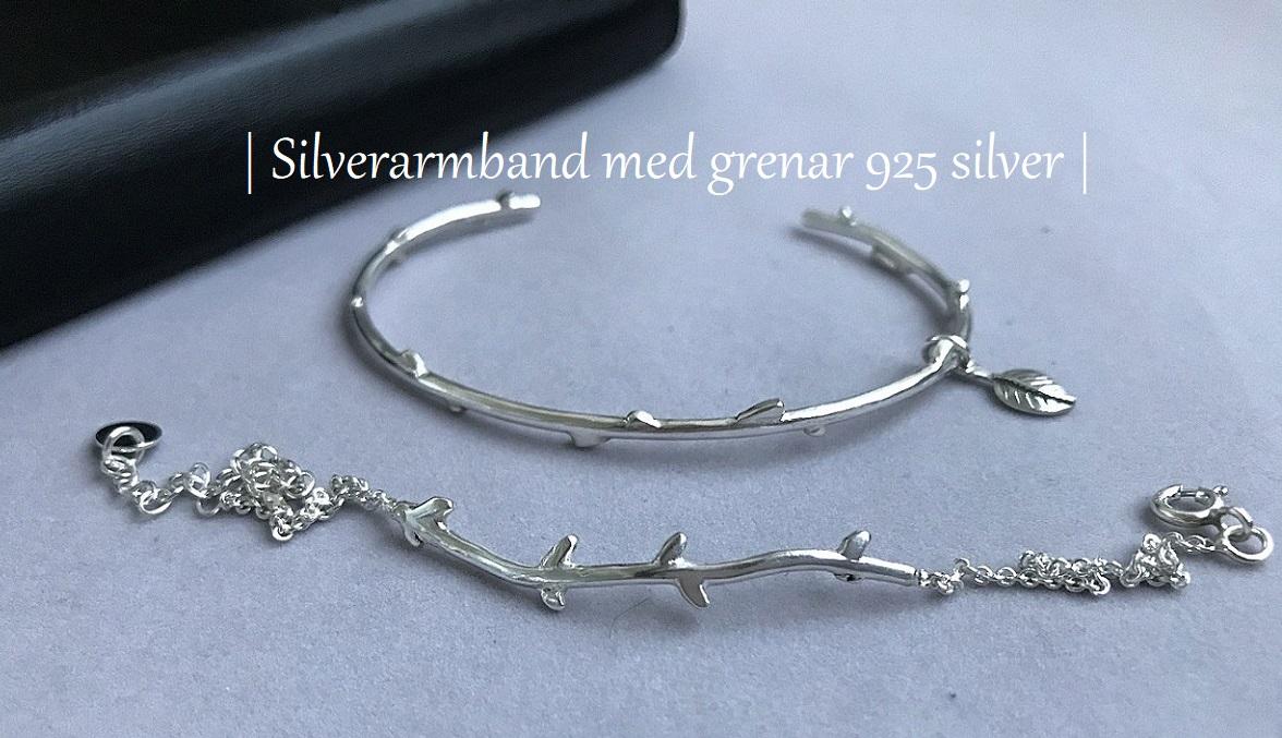 Kedjearmband silver