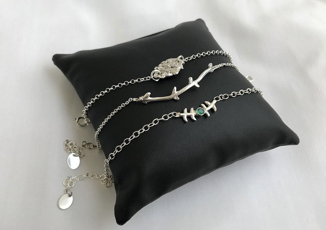 Armband med kedja i äkta silver