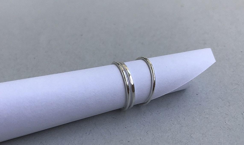 Ring i silver utan sten, handgjorda silverringar.