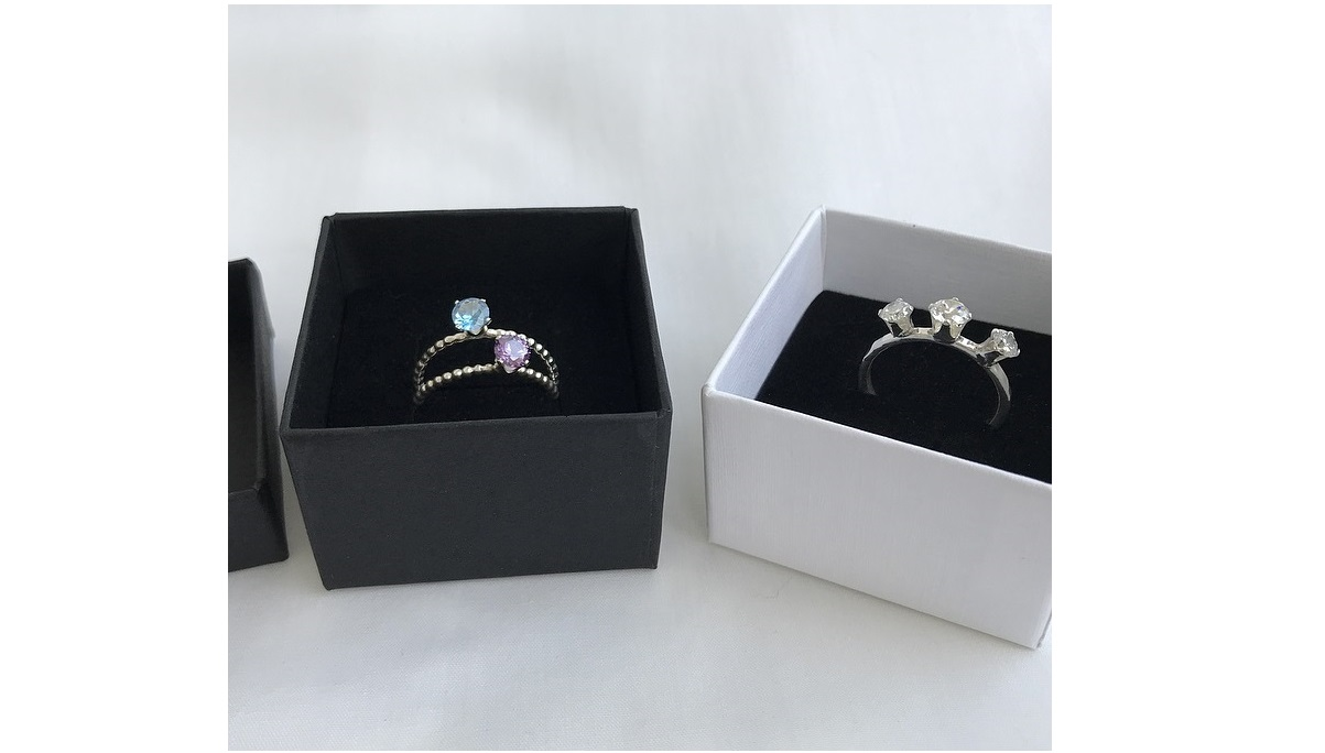 Cubic Zirconia ringar silver