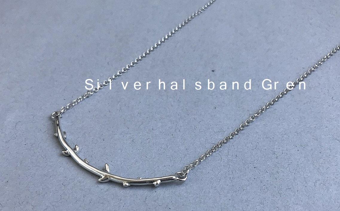 Äkta silverhalsband