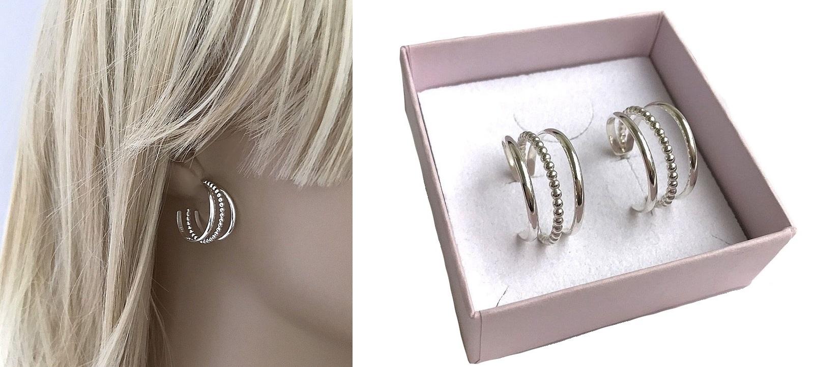 Äkta silverörhängen