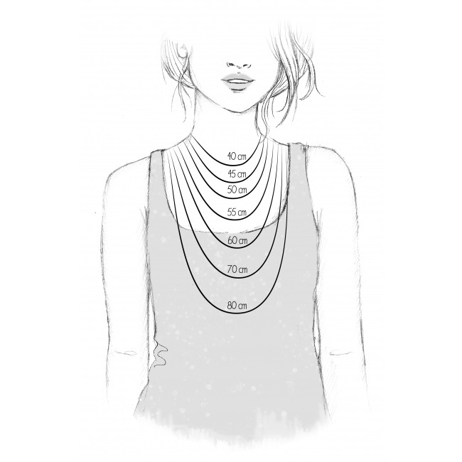 Storleksguide halsband dam olika längder