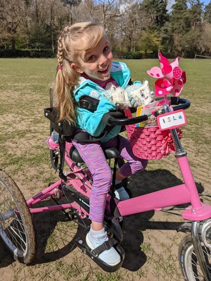 Isla Williams on her bike
