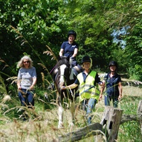 Lizzie Green of Bradbourne RDA deep in the countryside on Al
