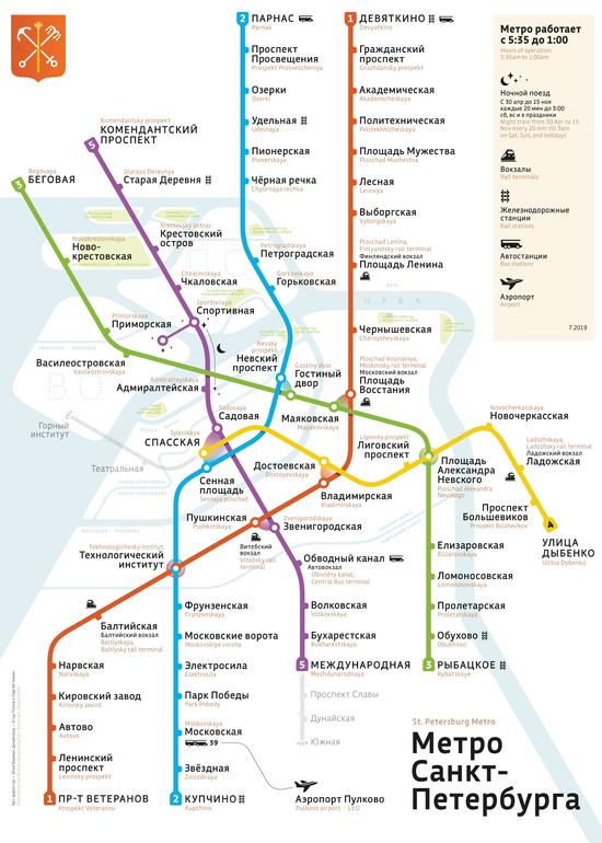 Карта карта метрополитена санкт-петербурга