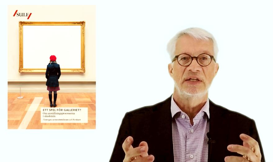 Bild på SULF:s ordförande Mats Ericson och bild på rapporten Spel för galleriet? (jpg).