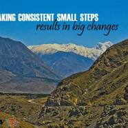 Taking consistent small steps results in big changes 610x457