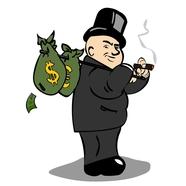 Money guy cartoon