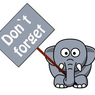 Just a reminder elephant clipart 1