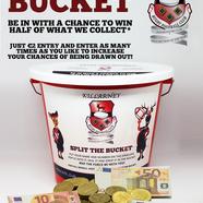Split the bucket promo poster website