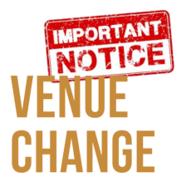 Venue change
