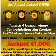 Lotto 20results 203rd 20aug 202020