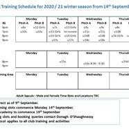 Training 20schedule