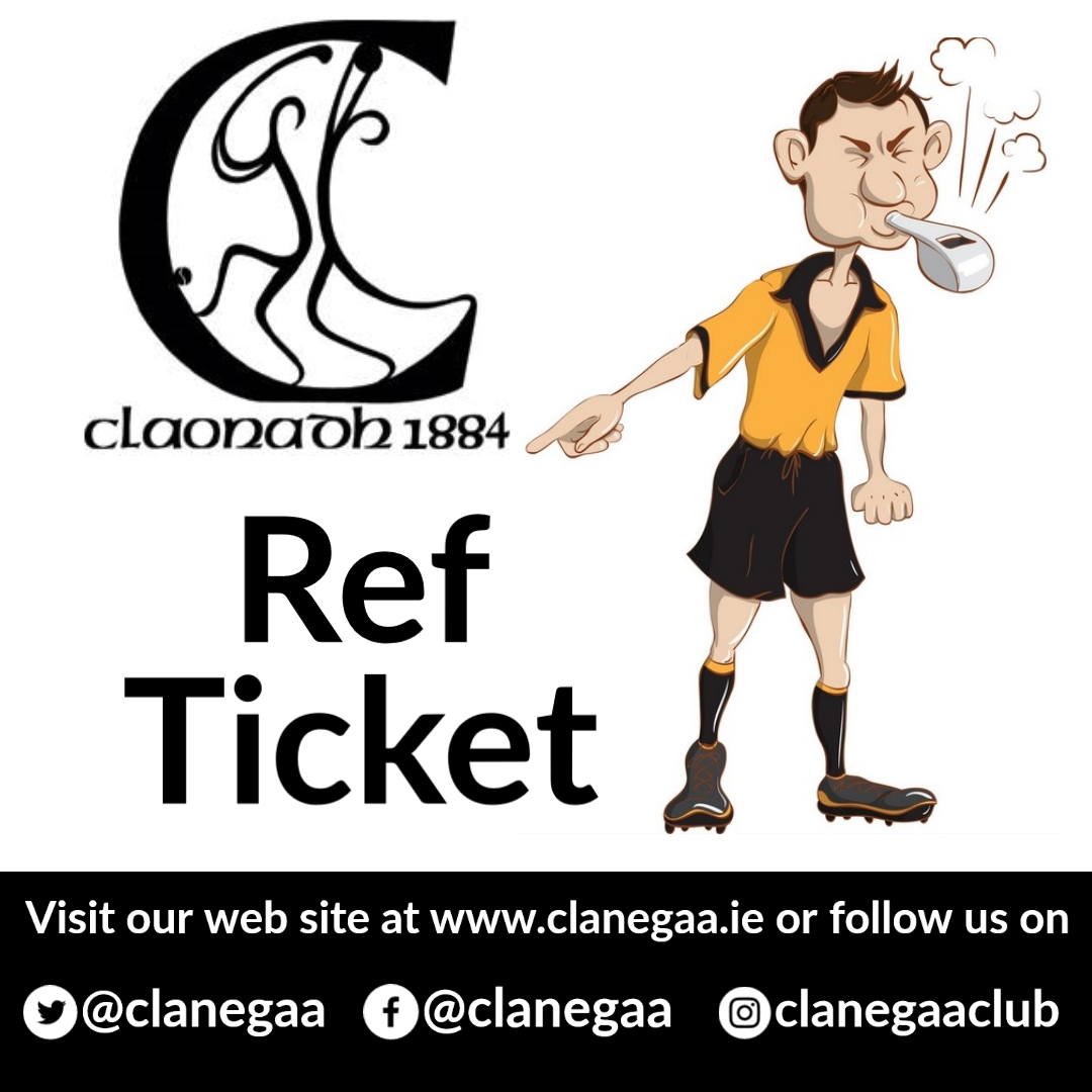 Clanegaa ref tickets poster