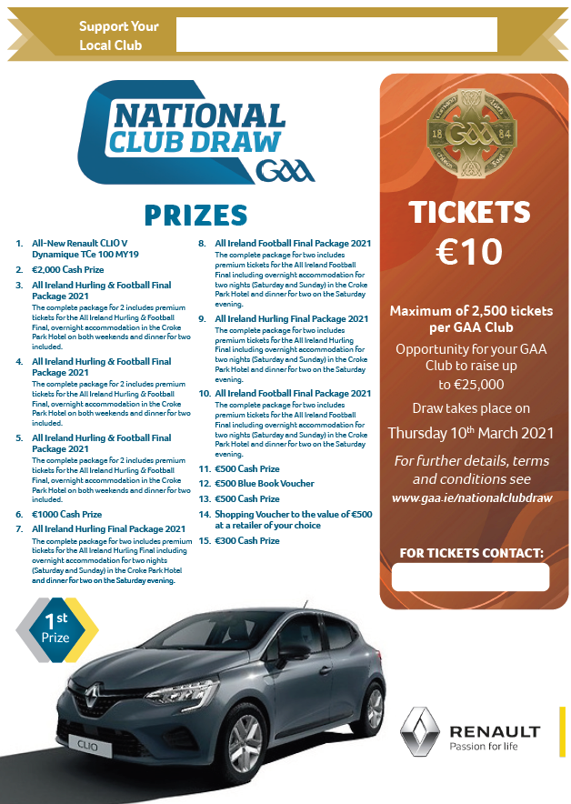 Clubdraw 20tickets