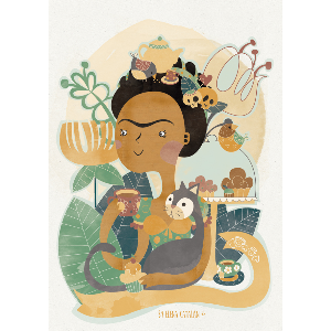 Frida Kahlo acuarela