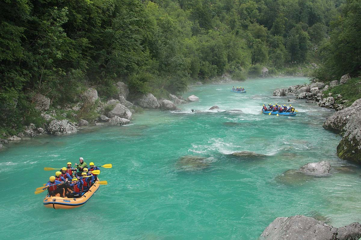 Classical rafting on Soca Slovenia