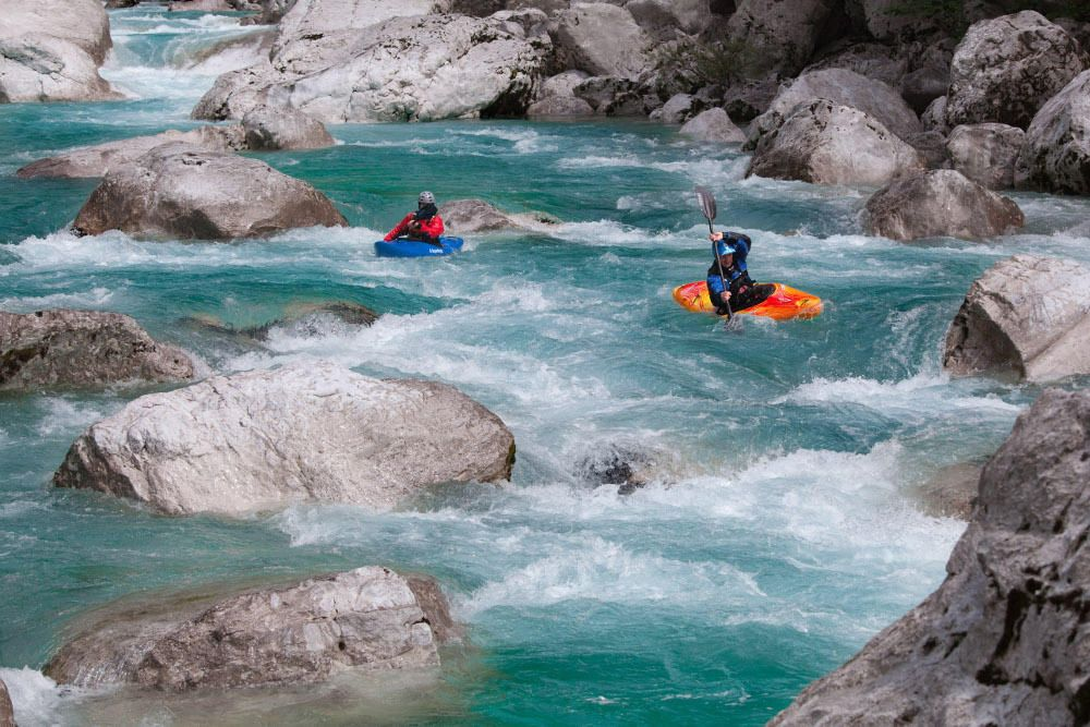 Beginner Kayak Course: 2 days (2 x 2,5 hours) Bovec, Soca river, Slovenia