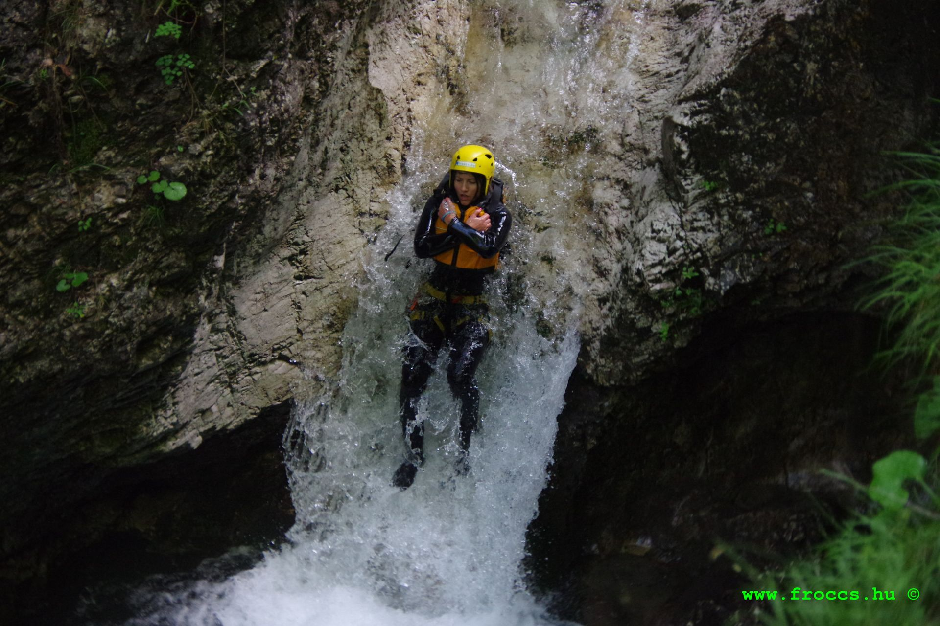 Canyoning in Susec Bovec, Slovenia