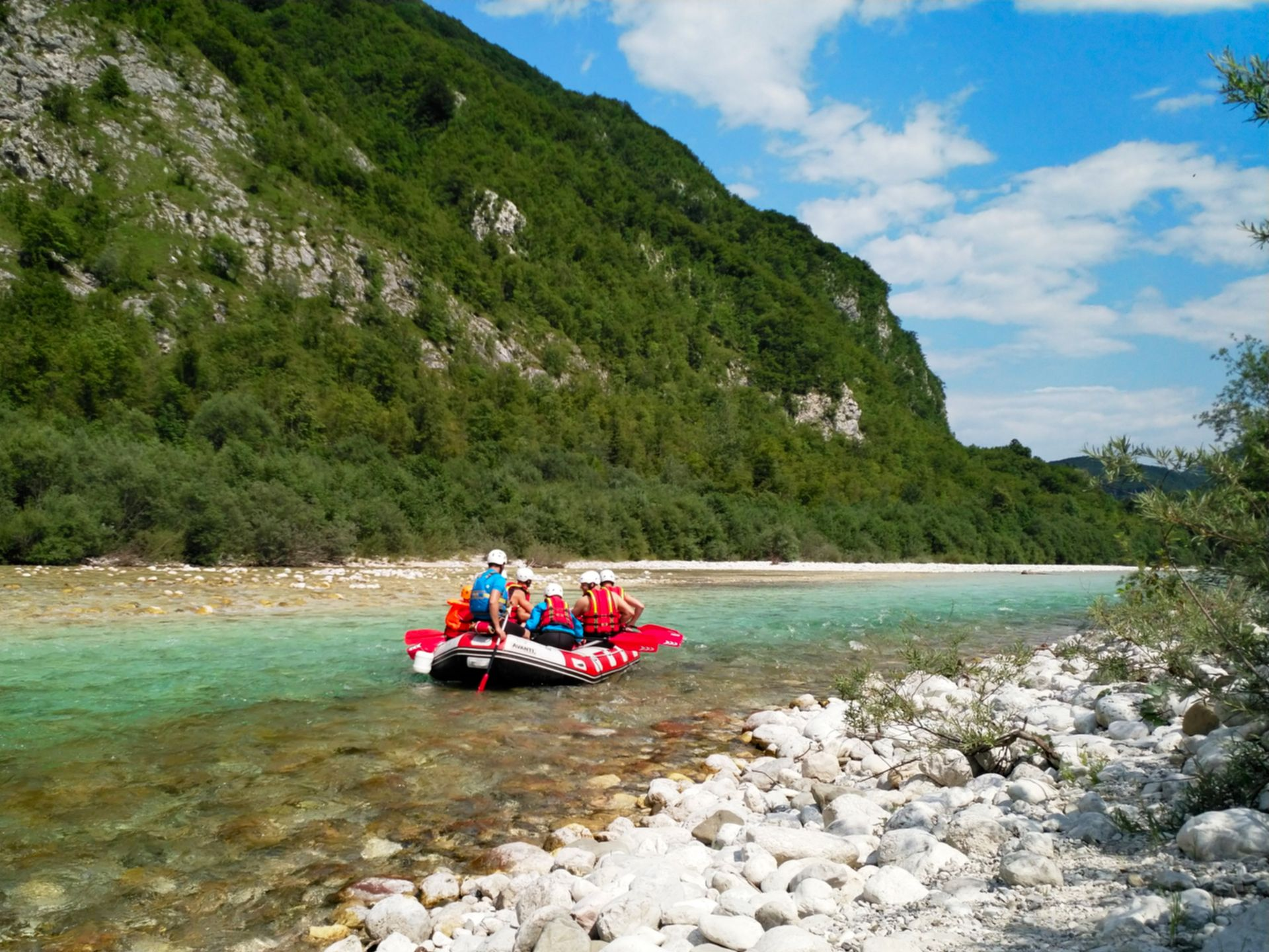 Family Rafting on Soca River Bovec, Triglav National Park, Slovenia #634fe5b7-69cb-4a36-ae80-7c668f3f45d1