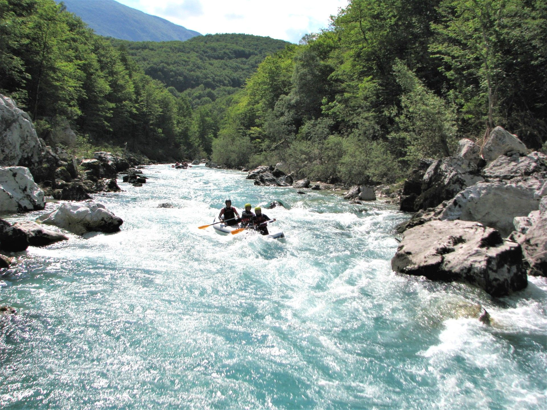 Mini-Rafting in Bovec Bovec, Slowenien