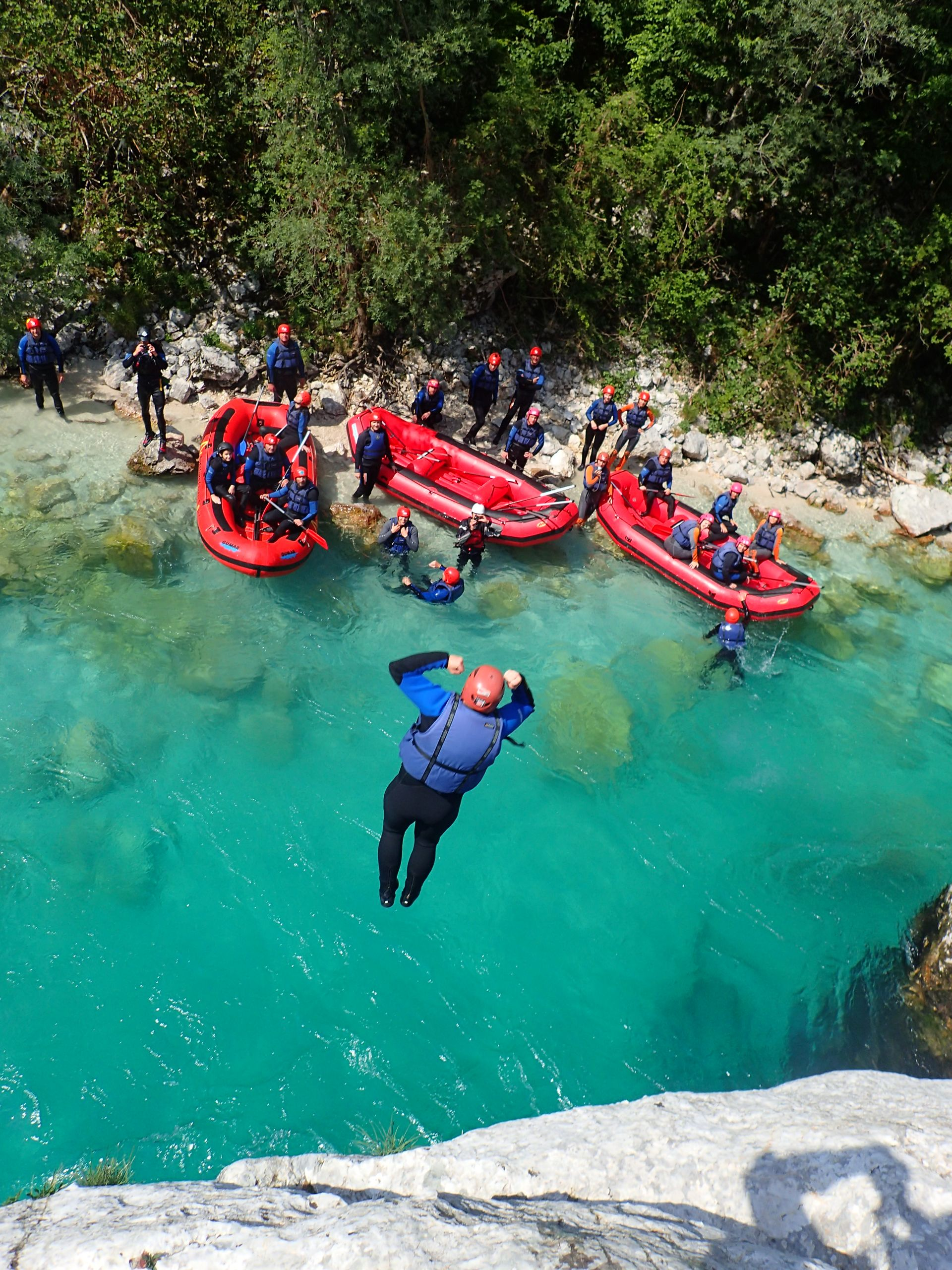 Rafting on Soca river in Bovec Bovec, Slovenia