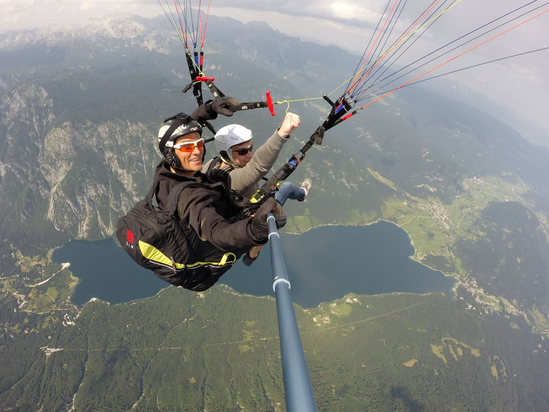 Tandem flight over Bohinj lake Bohinj Lake, Slovenia #ca772a1a-9b25-4acc-89c5-cdccbf730250