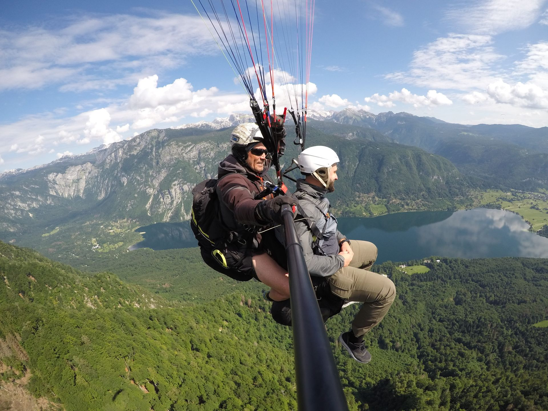 Tandem Flight Over Lake Bohinj Bohinj Lake, Slovenia #ca772a1a-9b25-4acc-89c5-cdccbf730250