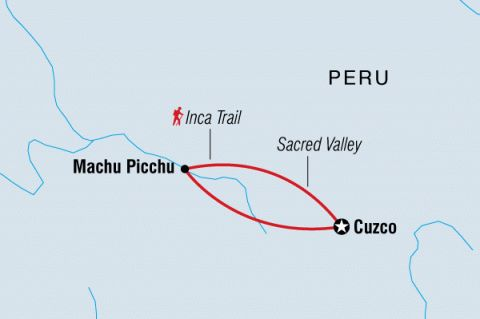 Inca Trail Extension Machu Picchu, Inca Trail,Peru #mapImageWidget