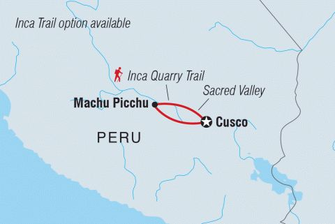 Inca Quarry Trail Extension Machu Picchu, Inca Quarry Trail, Peru #mapImageWidget