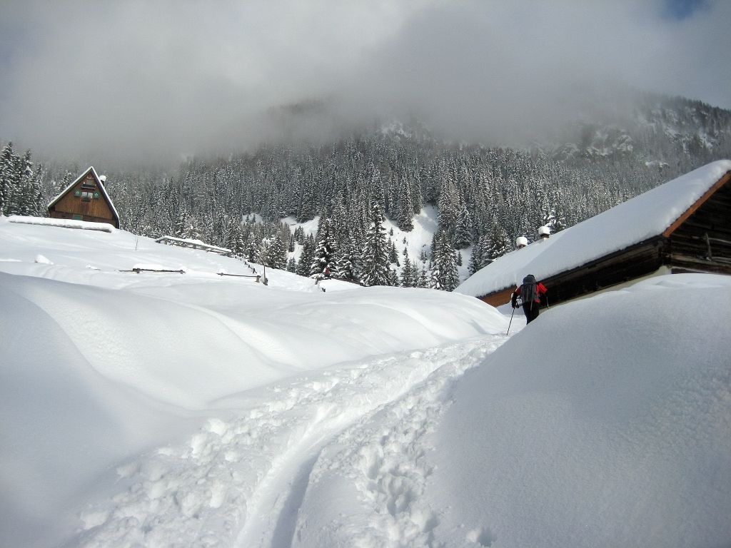 Easy Snowshoeing in Northern Italy Julian Alps, Italy