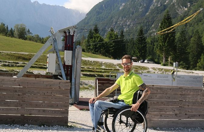 Accessible Zip-Line in Planica- Accessible Travel Bled, Planica, Slovenia #55a05abf-57aa-4226-be4c-577790c0f68a