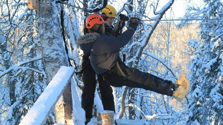 Winter Zipline in Bled Bled, Dolinka Valley, Slovenia #6be8b663-036c-4ddf-ac60-a0d9feface66