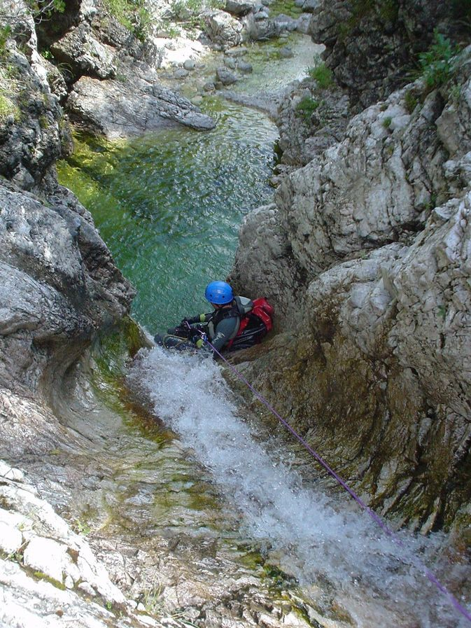 Emerald Green Canyoning from Bovec -> Fratarica Fratarica canyon, Triglav NP, Slovenia