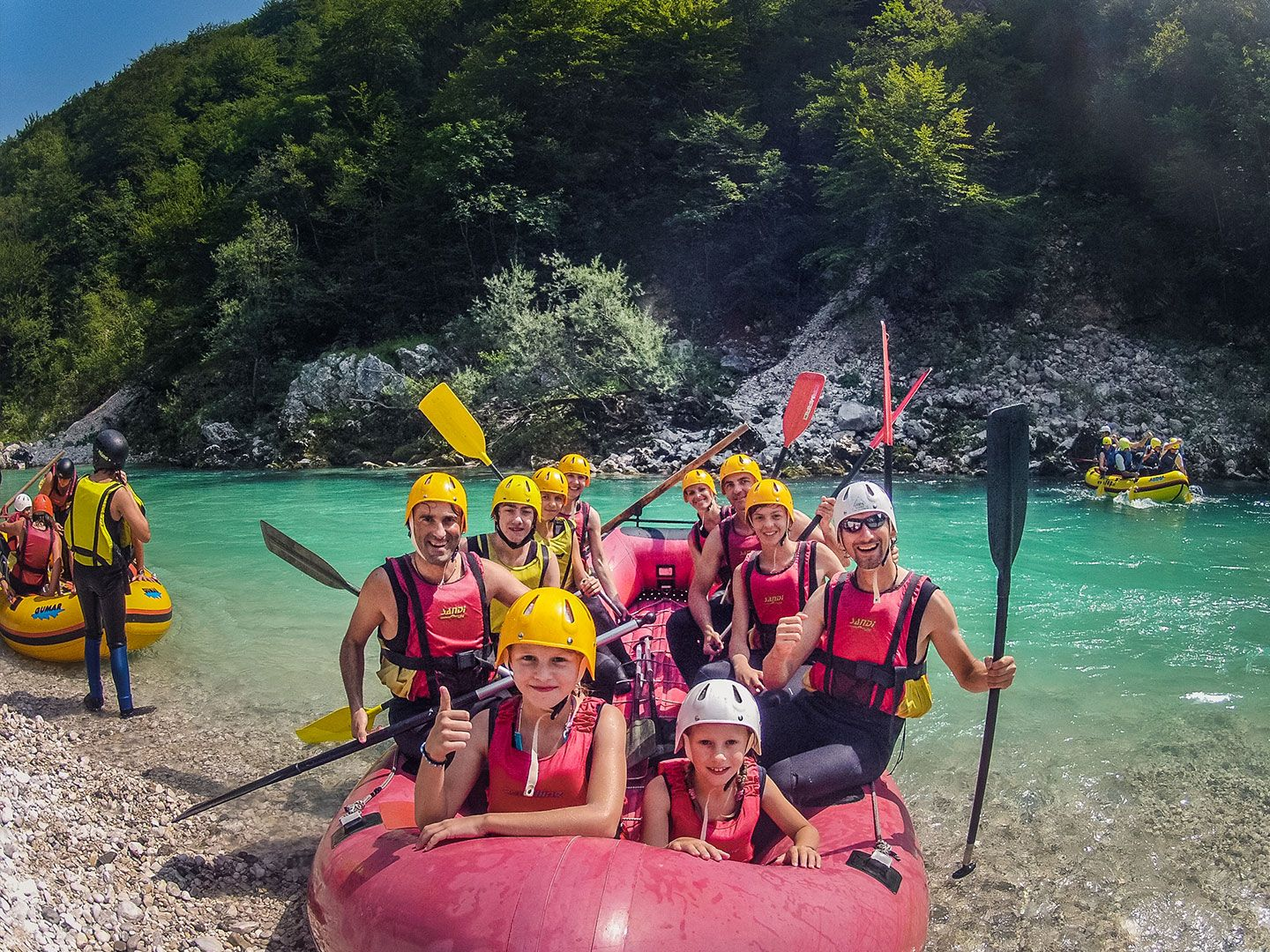 Family Rafting with Small Kids Bovec, Soca river, Triglav NP #1321e159-5a5a-4b75-9eee-8fcd3256067c