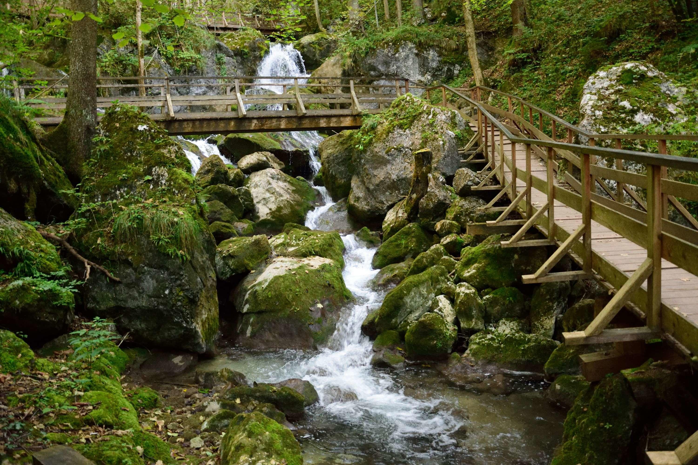 Myrafalle vízesés és Kőfal kanyon egynapos bakancsos túra Myrafalle-vízesés, Ausztria