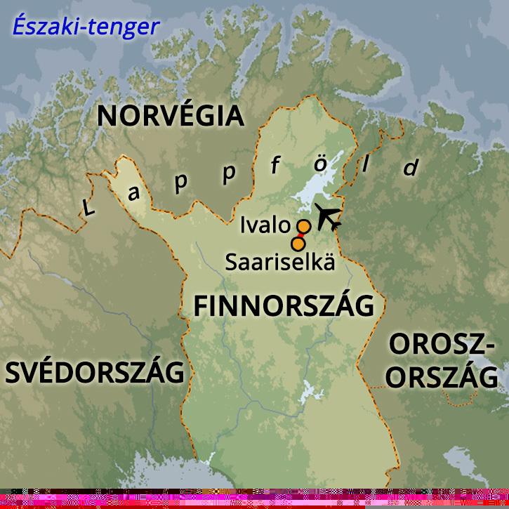 A Sarki Fény Nyomában Lappföldön Lappföld, Finnország #mapImageWidget
